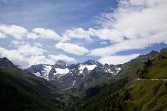 Vista sulle alpi di Oetztal Immagini Stock
