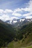 Vista sulle alpi di Oetztal Immagine Stock
