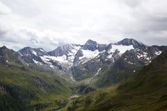 Vista sulle alpi di Oetztal Fotografia Stock Libera da Diritti