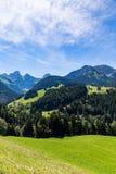 Vista sulle alpi, Svizzera Immagini Stock Libere da Diritti