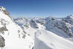 Vista sulle alpi svizzere dal supporto Titlis Fotografia Stock