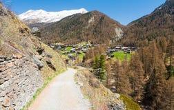 Vista sulle alpi in Zermatt in Svizzera Fotografia Stock Libera da Diritti