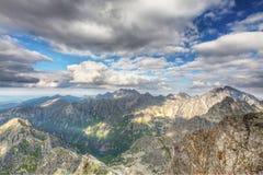 Vista sulle alte montagne di Tatra, Slovacchia, Europa Fotografia Stock Libera da Diritti