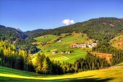 Vista sulle dolomia italiane, alpi fotografia stock