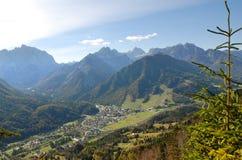 Vista sulle montagne Immagini Stock