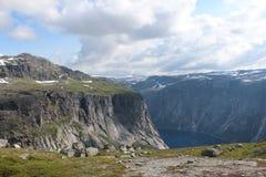 Vista sulle montagne Fotografie Stock Libere da Diritti