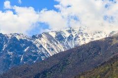 Vista sulle montagne caucasiche Immagini Stock Libere da Diritti