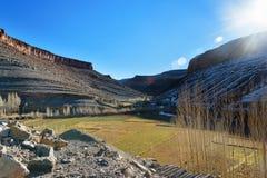 Vista sulle montagne vicino a Imilchil morocco Fotografia Stock Libera da Diritti