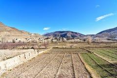 Vista sulle montagne vicino a Imilchil morocco Immagini Stock
