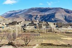 Vista sulle montagne vicino a Imilchil morocco Fotografia Stock