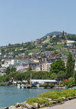 Vista sullo svizzero di Montreux Fotografia Stock Libera da Diritti