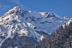 Vista superba di alte alpi austriache di Tauern nell'inverno Fotografia Stock Libera da Diritti