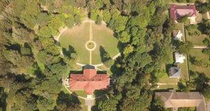 Vista superior aérea al conjunto Samchiki del palacio almacen de metraje de vídeo