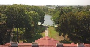 Vista superior aérea al conjunto Samchiki del palacio metrajes