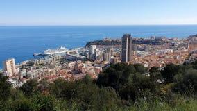 Vista superior aérea del principado de Mónaco Timelapse almacen de video