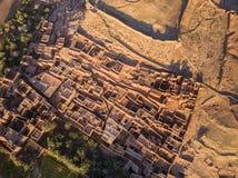 Vista superior aérea em Ait Ben Haddou Imagens de Stock