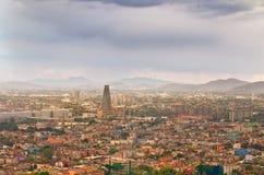Vista superior bonita de Cidade do México, México Foto de Stock Royalty Free