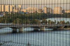 Vista superior bonita no panorama da cidade imagens de stock royalty free
