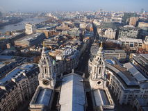 Vista superior da catedral de St Paul Imagens de Stock Royalty Free
