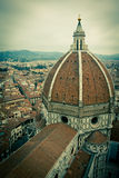 Vista superior da catedral do domo em Florença, Italy Fotografia de Stock Royalty Free