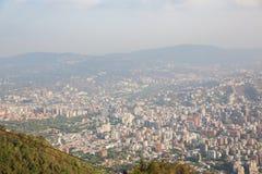 Vista superior da cidade de Caracas imagens de stock