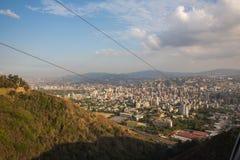 Vista superior da cidade de Caracas fotografia de stock
