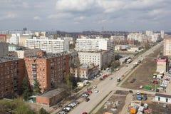 Vista superior da cidade de Krasnodar imagem de stock royalty free
