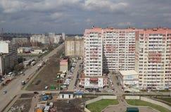 Vista superior da cidade de Krasnodar imagens de stock royalty free