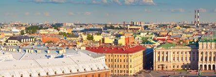 Vista superior da cidade europeia Imagem de Stock