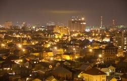 Vista superior da cidade da noite foto de stock royalty free