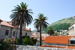 Vista superior da cidade velha na cidade velha de Dubrovnik foto de stock