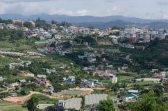 A vista superior da cidade Vietnam de Dalat. Fotos de Stock Royalty Free