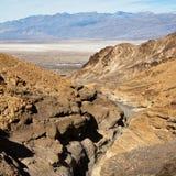 Vista superior da garganta do mosaico em Death Valley Fotografia de Stock