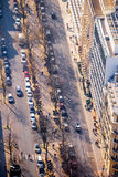 Vista superior da rua em Paris Foto de Stock Royalty Free