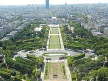 Vista superior da torre Eiffel Fotografia de Stock Royalty Free