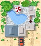 Vista superior das casas ilustração stock