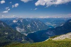 Vista superior das montanhas em Áustria, Hallstatt Imagens de Stock Royalty Free