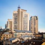 Vista superior das ruas de Kiev imagem de stock royalty free