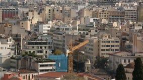 Vista superior de Atenas, Grecia metrajes