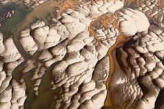 A vista superior de descobriu a parte inferior de rio da areia Imagens de Stock Royalty Free