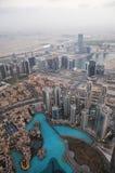 Vista superior de Dubai EMIRATOS ÁRABES UNIDOS Fotos de archivo