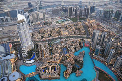 Vista superior de Dubai EMIRATOS ÁRABES UNIDOS Foto de archivo libre de regalías