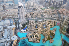 Vista superior de Dubai EMIRATOS ÁRABES UNIDOS Imagen de archivo libre de regalías
