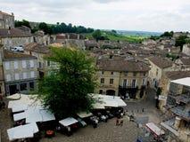 Vista superior de Emilion sant en Francia Imagenes de archivo