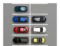 vista superior de estacionamento ilustração stock