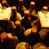 Vista superior de frascos velhos da videira Fotos de Stock