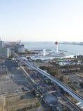 Vista superior de la bahía de Tokio, Odaiba Imágenes de archivo libres de regalías
