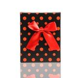 Vista superior de la caja de regalo aislada rojo Imágenes de archivo libres de regalías