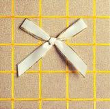 Vista superior de la caja de regalo elegante Imágenes de archivo libres de regalías