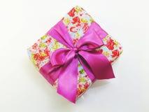Vista superior de la caja de regalo romántica hermosa Fotografía de archivo libre de regalías